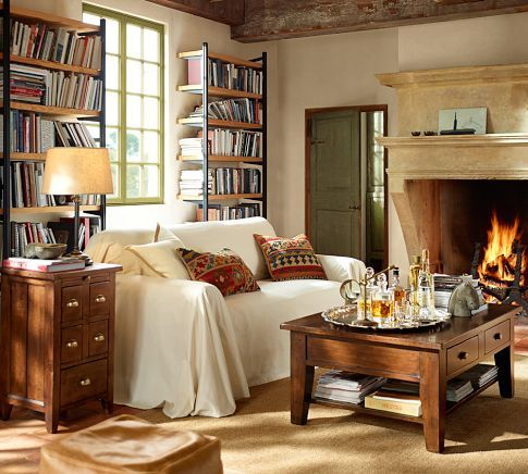 Camden Reclaimed Wood Coffee Table Pottery Barn Library - Pottery barn farmhouse coffee table