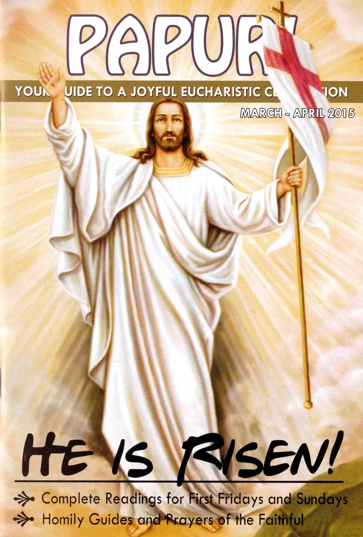 YOUR GUIDE TO A JOYFUL EUCHARISTIC CELEBRATION  Link -- http://www.stpauls.ph/books/Periodicals/papuri-english-march-april-2015-kit-pma15e-801985/ #holymass