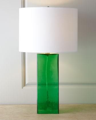 Lighting Gl Base Table Lamp I Horchow Green Emerald