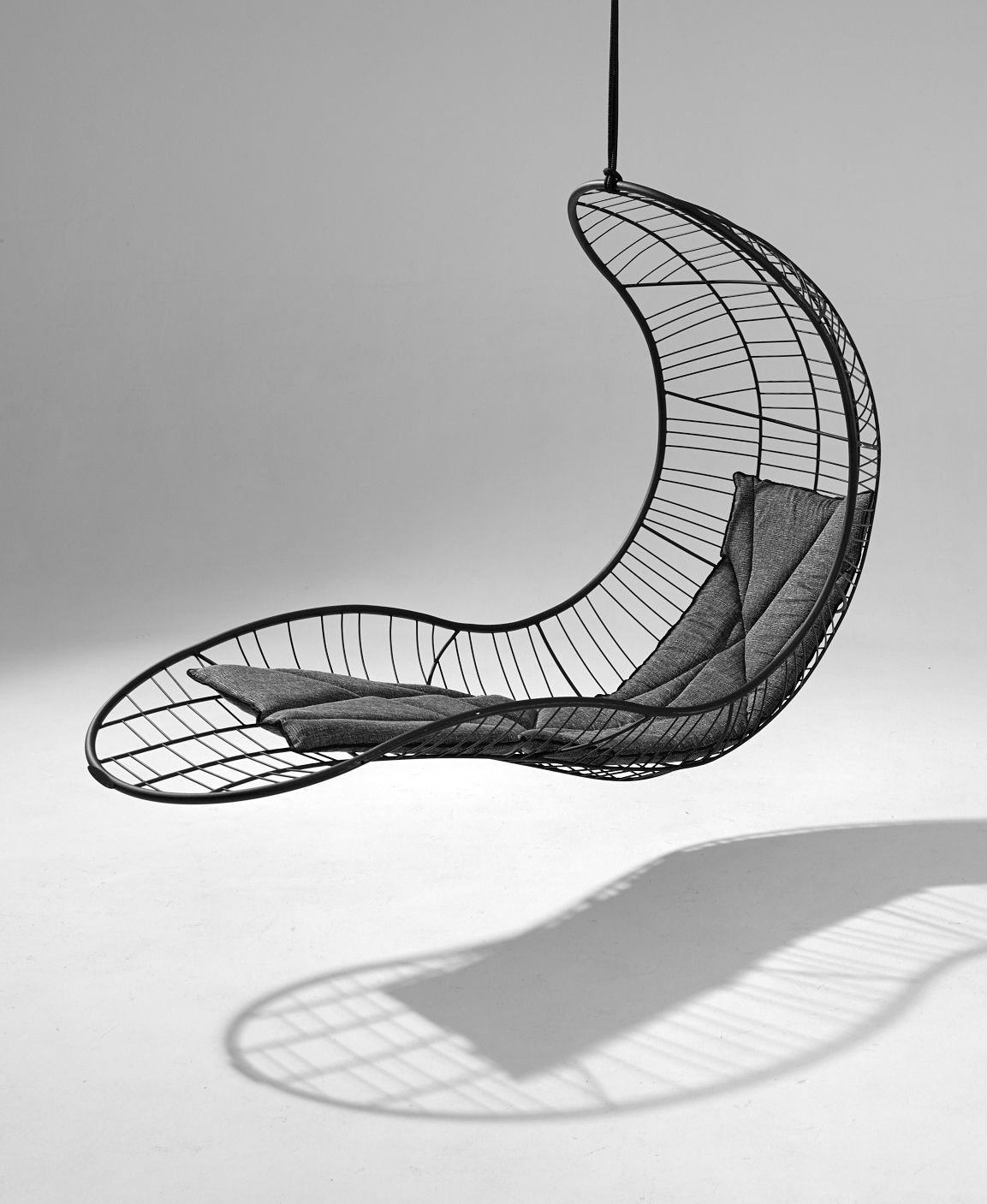 The recliner hanging chair available from studio stirling