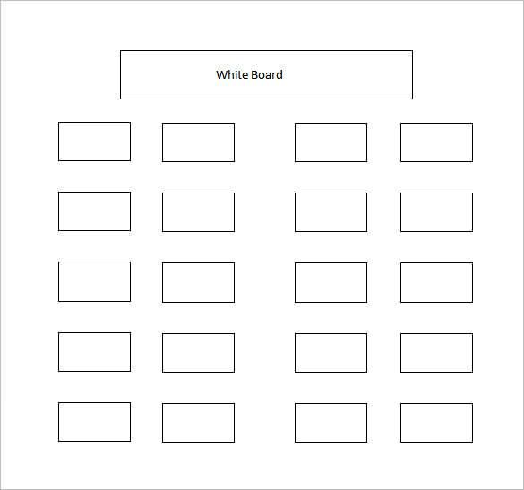 photo about Printable Seating Chart Template named Clroom Seating Chart Template - 14+ Illustrations in just PDF, Term
