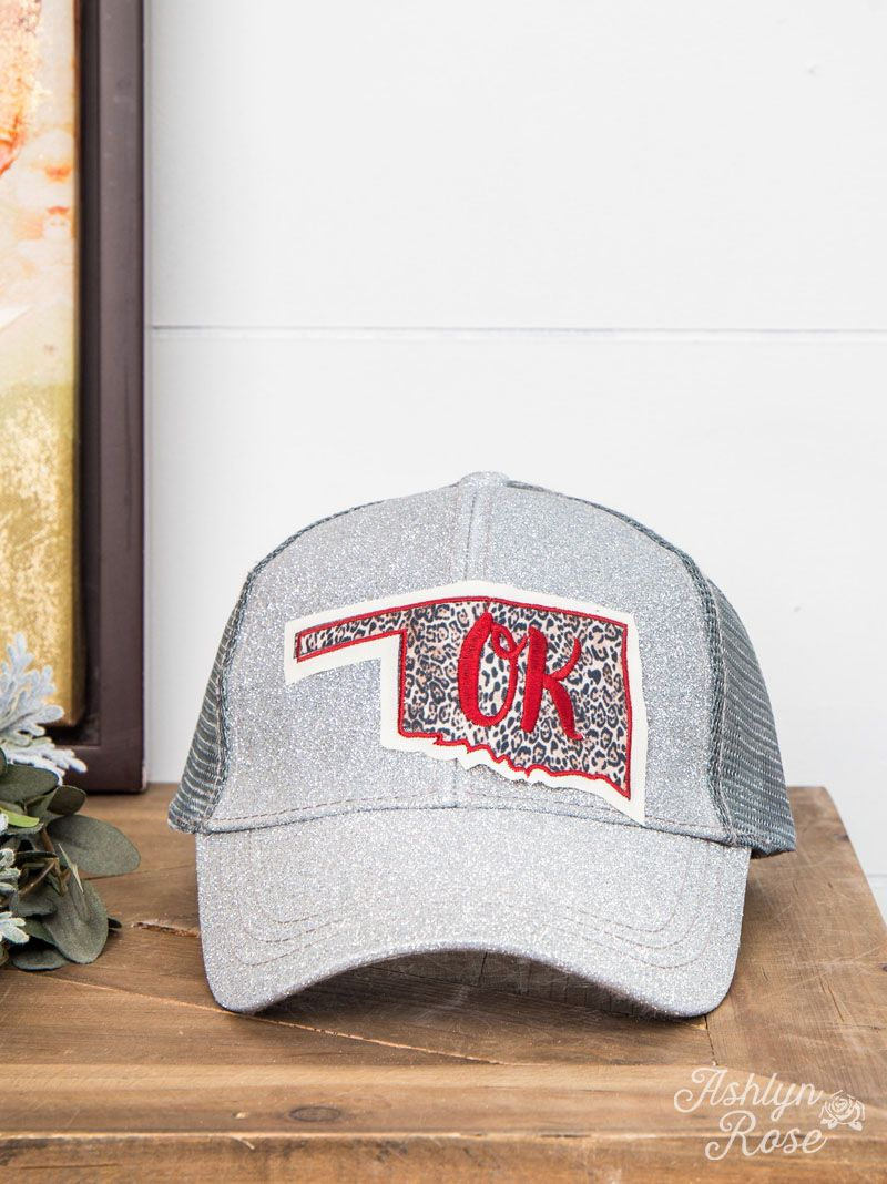 cd90ff4a6 Leopard Oklahoma Patch High-Ponytail Hat | Mackie Shae | High ...