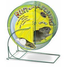 "Giant 12/"" Assorted Chinchilla Comfort Exercise Running Wheel Pet Rats Annimals"