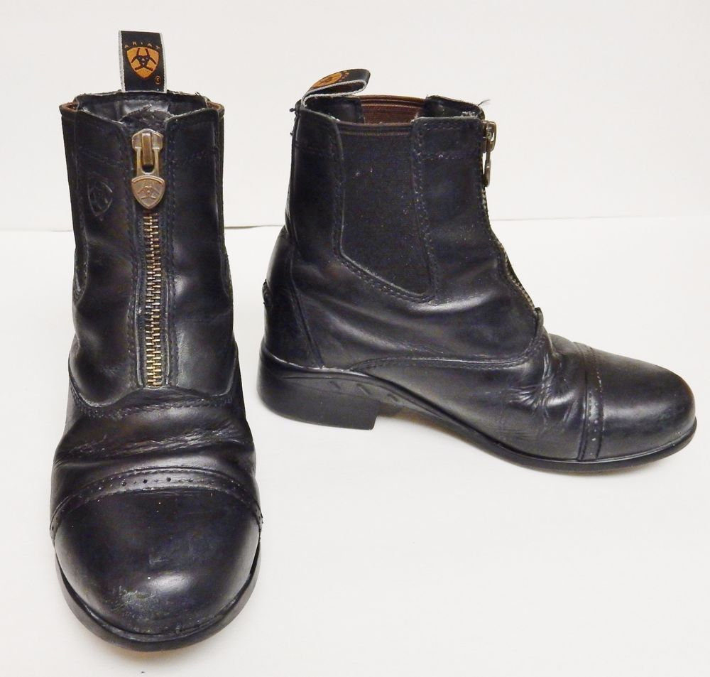 Details about ARIAT 4LR Boots Riding Equestrian Ankle Zippers ...