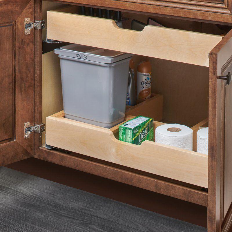 Rev A Shelf Under Sink Pull Out Drawer Wayfair Kitchen Drawer Organization Shelves Under Sink