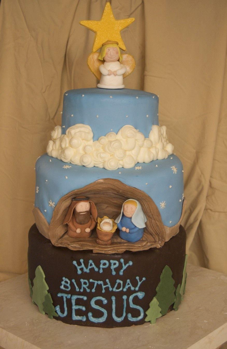 Christmas Cakehappy Birthday Jesus Christmas Cake Pinterest