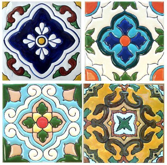 Hand Painted High Relief Tile mit Bildern