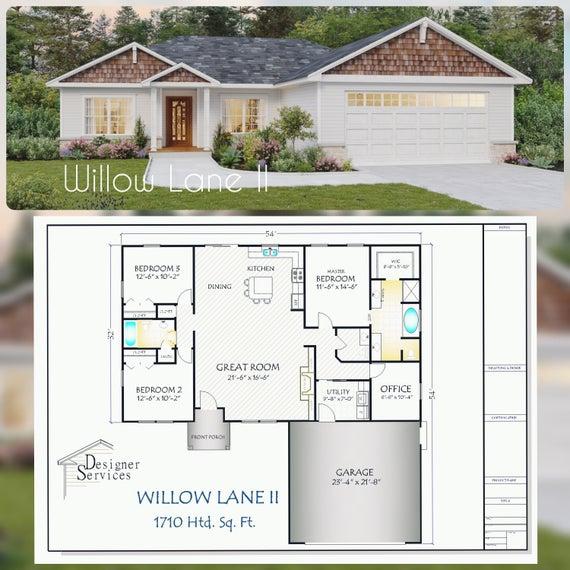 Willow Lane II House Plan 1710 Square Feet