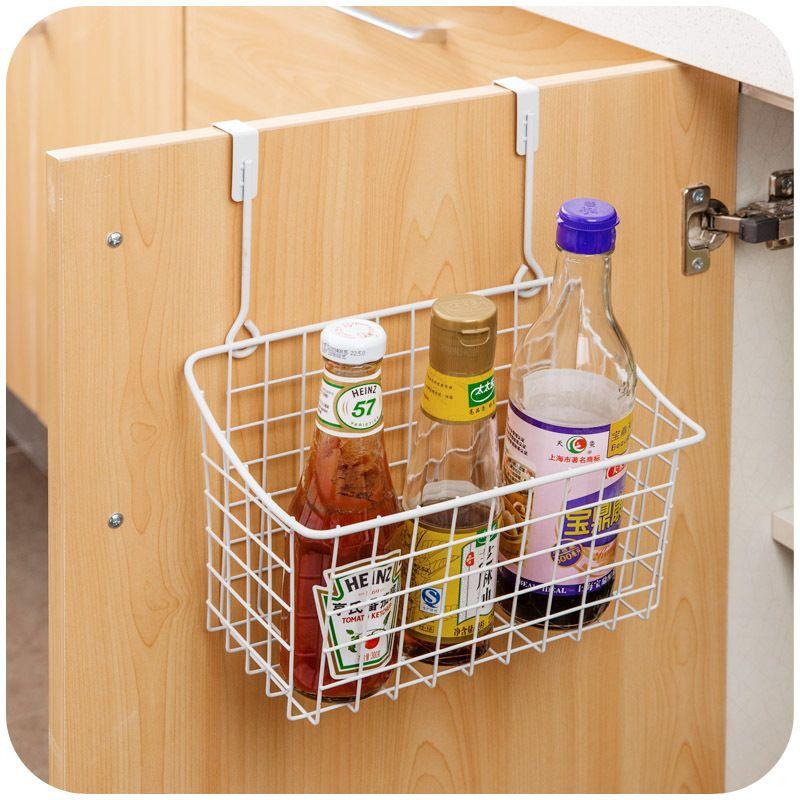 Creative Metal Over Door Storage Basketpractical Kitchen Cabinet