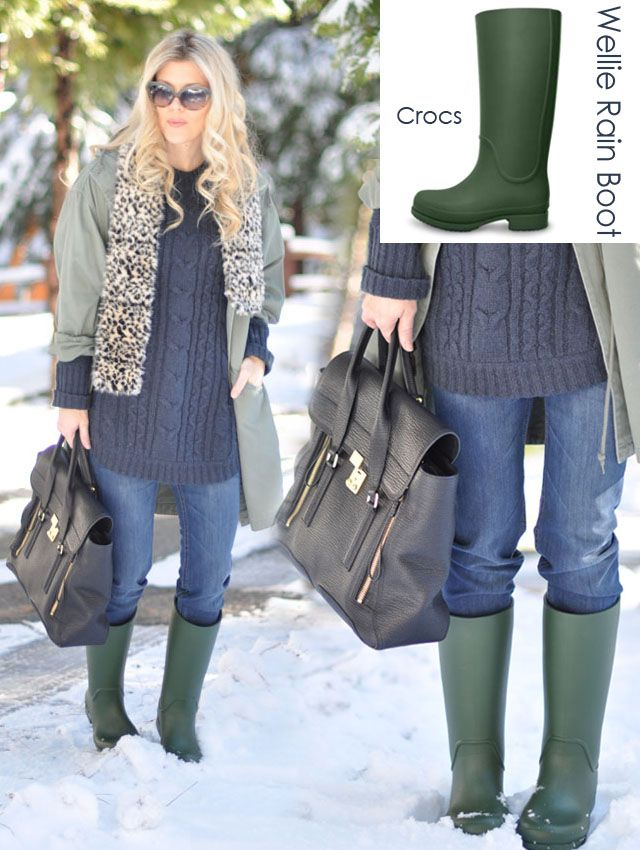 Wet snow? Crocs Wellies to the rescue! | Crocs | CrocStyle ...