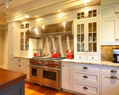 Custom Kitchens Stainless Backsplash Panels