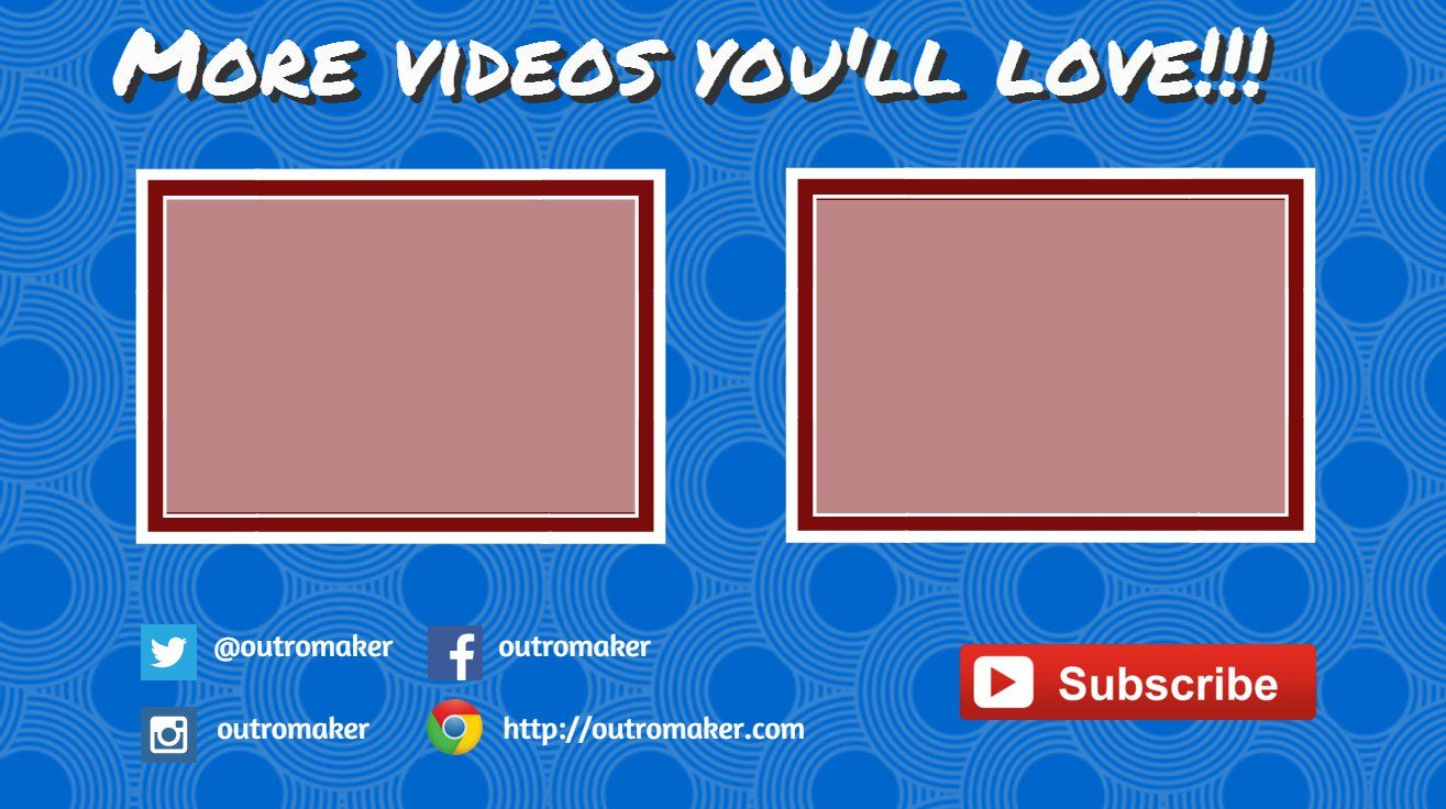 Youtube Video End Cards Are Custom Created Templates Made Clickable With Help Of Youtube Annotations The Simplest Way To E Free Youtube Youtube Videos Youtube