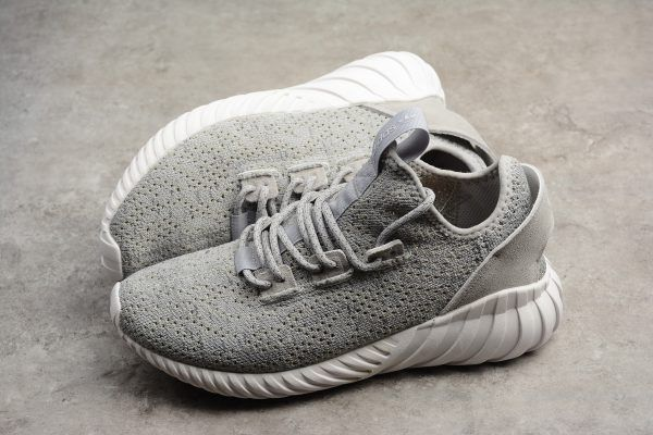 e1283e706 Mens adidas Tubular Doom Sock Primeknit Grey White Grey CQ0684-2 ...