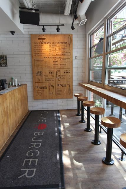Kaper Design Restaurant Hospitality Inspiration Clive Burger Menuboard Interior DesignRestaurant IdeasCafe
