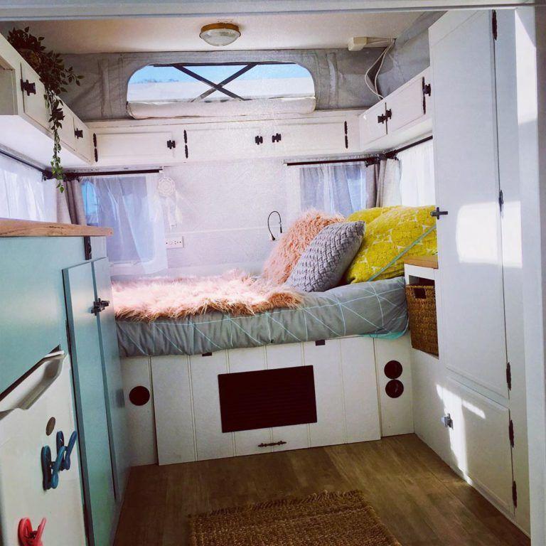 Pop Top Caravan Renovations Ben Michelle Pop Top Caravan Renovations Ben Michelle Ben Caravan In 2020 Caravan Renovation Caravan Makeover Caravan Decor