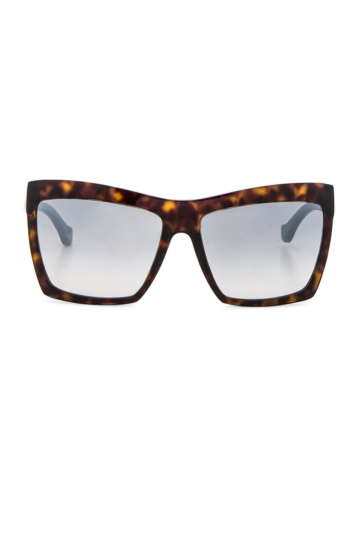 Image 1 of Balenciaga Shield Sunglasses in Dark Havana | Eyewear ...