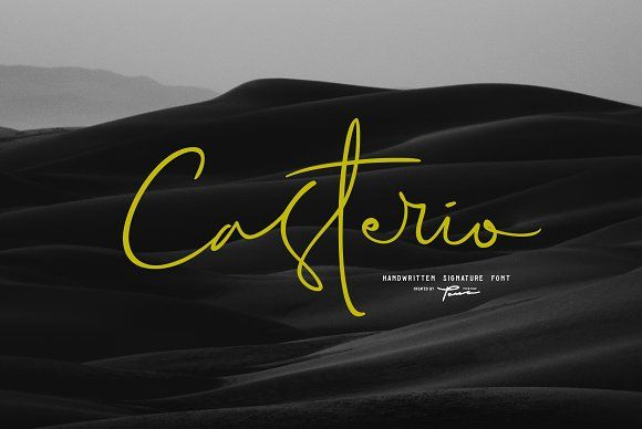 Casterio Signature Font 30%OFF by Pana Type & Studio on @creativemarket