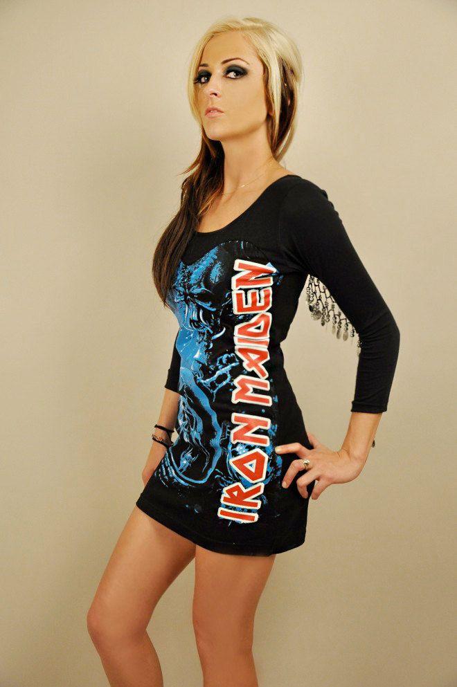 Iron Maiden Dress w/ Silver Tribal Coins. $69.00, via Etsy.