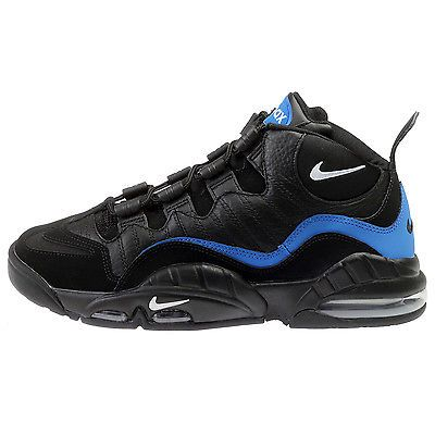 59778634afdad0 Nike Air Max Sensation Mens 805897-002 Black Blue Webber Basketball Shoes  Sz 9.5