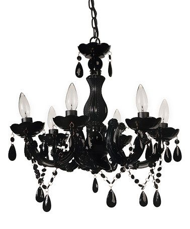 Loving This Black Floral Beads Chandelier On Zulily