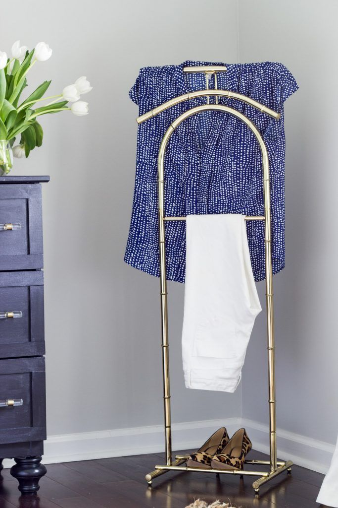 This Vintage Brass Valet Stand Is The Perfect Spot To Hang