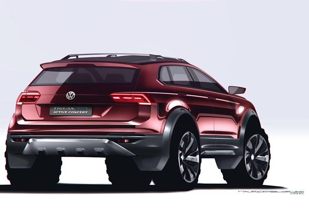 Vw Tiguan Gte Active Concept Is A Sporty Off Road Hybrid W Video In 2020 Tiguan Volkswagen Design