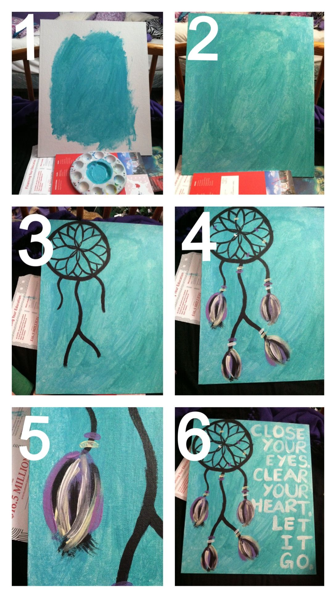 Walmart Dream Catcher Brilliant Diy Dream Catcher Paintingpaints $10 Walmart Canvas 3 For $12 Design Ideas