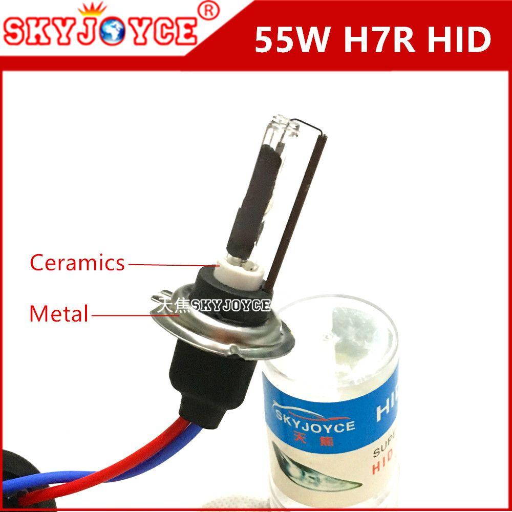 2x Ac 55w H7r Hid Xenon Lamp 4300k 5000k Car Light Source Hid Bulbs Xenon H7r Metal Ceramics Base H7t R Car Styling Acces Hid Bulbs Car Lights Cool Car Gadgets