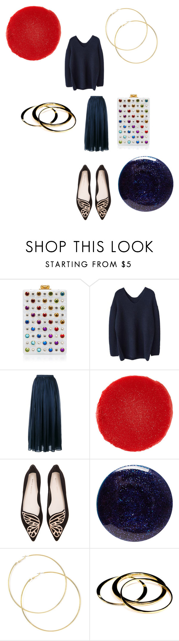 """""""A dash of color!"""" by alisafranklin on Polyvore featuring Edie Parker, Mes Demoiselles..., Christian Louboutin, Sophia Webster, Lauren B. Beauty and Janna Conner"""