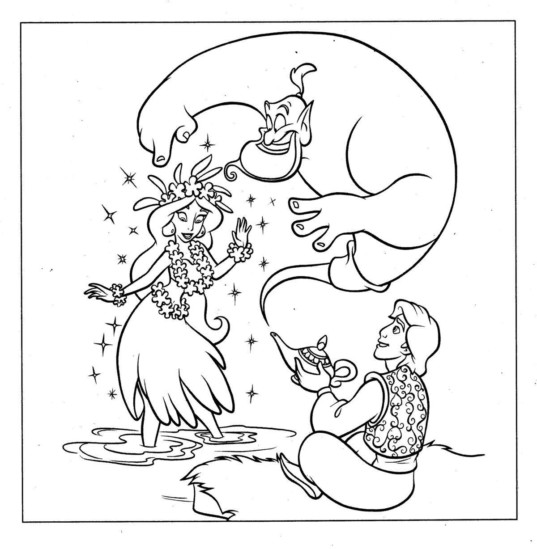 Galería de imágenes con dibujos de Aladin y Jasmin para imprimir ...