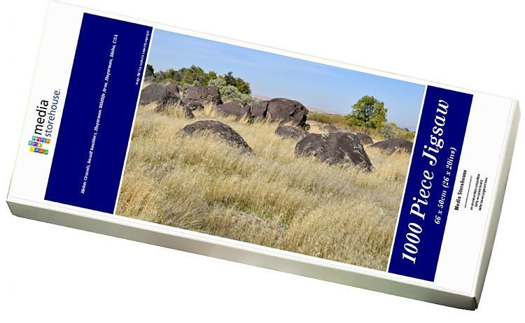 1000 Piece Jigsaw Puzzle (other products available) - Melon Gravels, basalt boulders, Hagerman Wildlife Area, Hagerman, Idaho, USA - Image supplied by Fine Art Storehouse - #MediaStorehouse - 1000 Piece Jigsaw Puzzle made to order in the UK