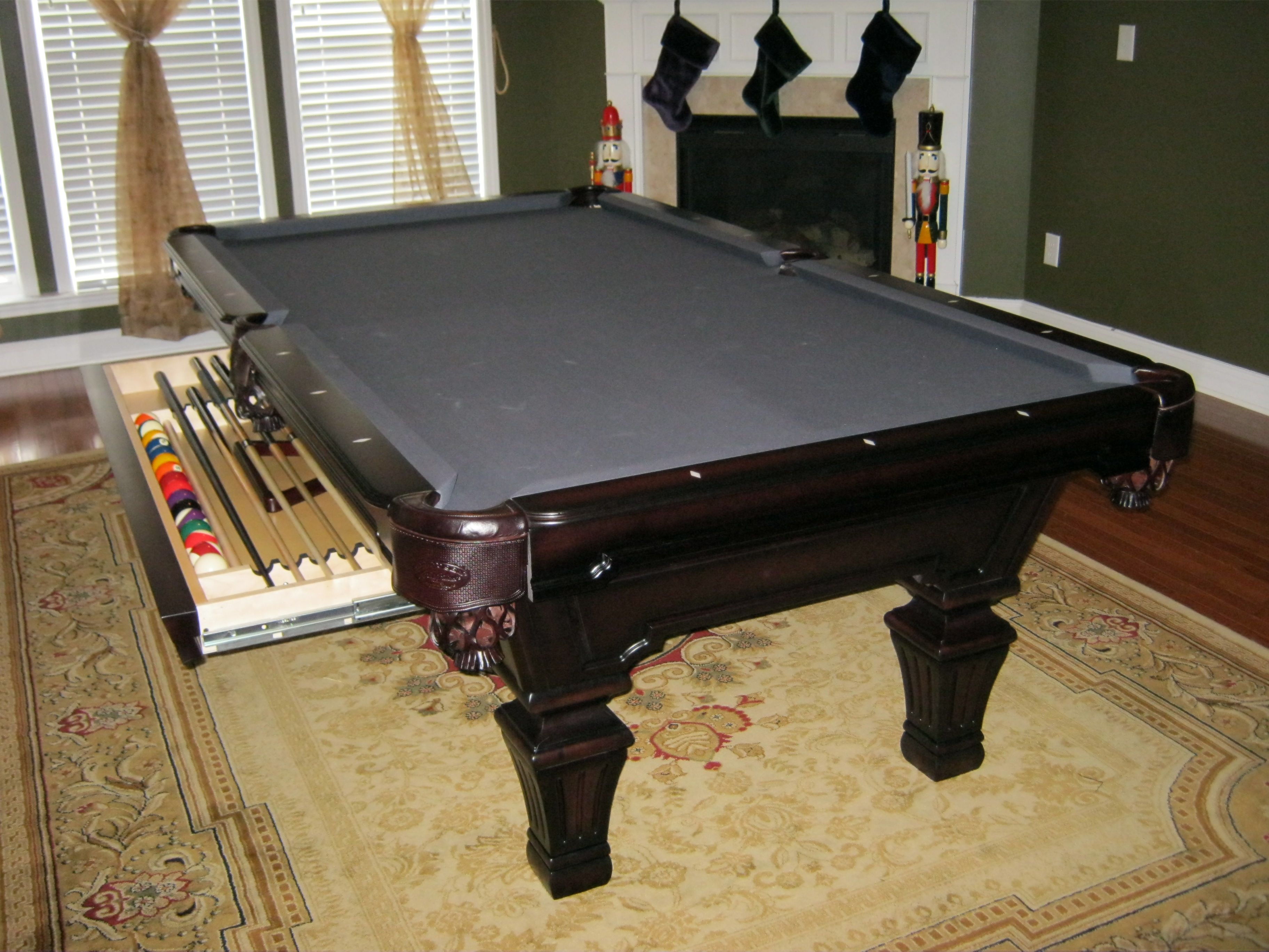 Olhausen Hampton In Heritage Cherry With Drawer Option From Atlantic Spas  And Billiards In Raleigh,