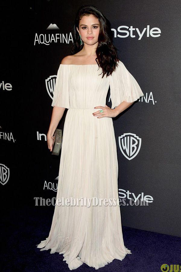 9a34508a Selena Gomez Red Carpet, Selena Gomez Dress, Selena Gomez Outfits, Off  Shoulder Evening