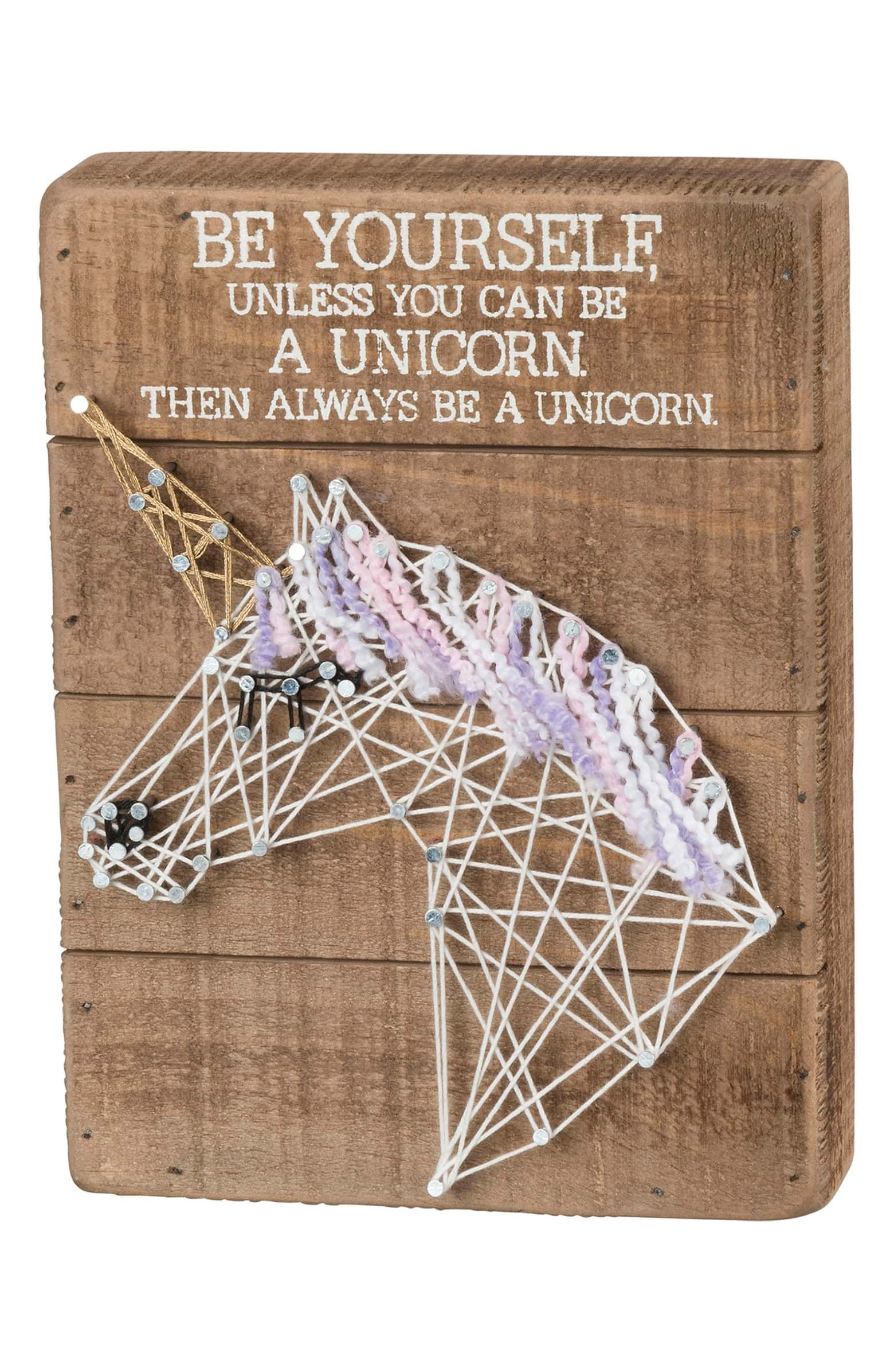 Unicorn String Art Box Sign  Add a whimsical touch to any