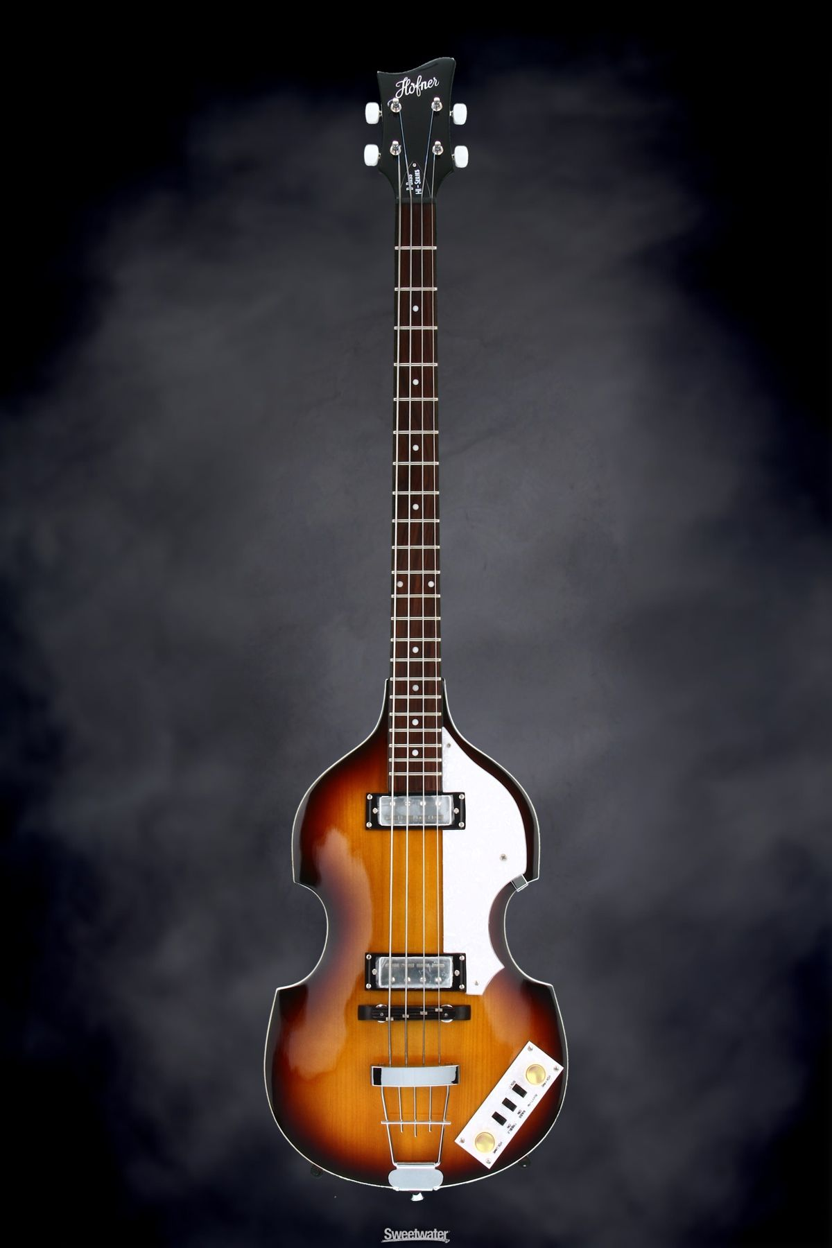 medium resolution of hofner ignition violin bass upgraded with german tea cup knobs and labella flatwound strings sweetwater com