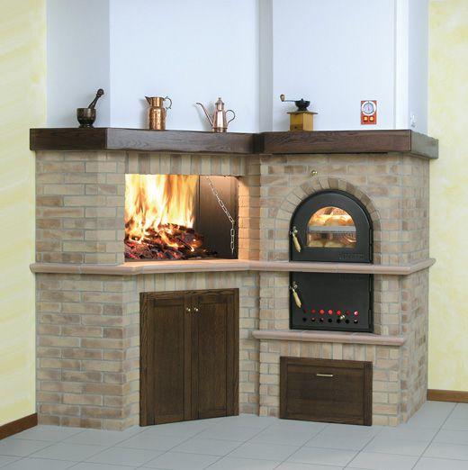 Camino con forno camini pinterest fire places - Camino con forno ...