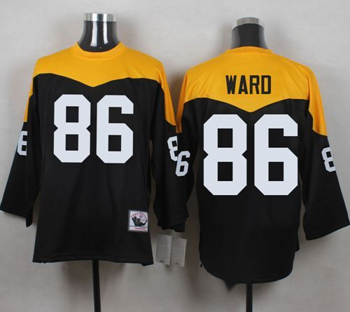 9e4ad470e Mitchell And Ness 1967 Steelers  86 Hines Ward Black Yelllow Throwback Men s  Stitched NFL Jersey And  Melvin Gordon jersey