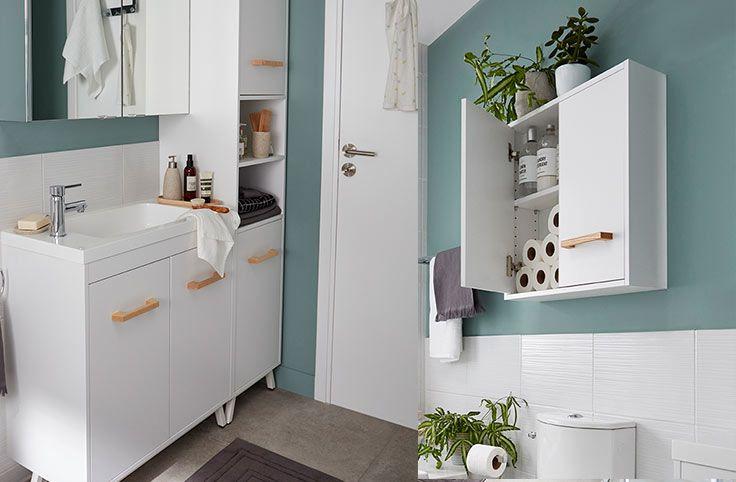 Un mobilier faible profondeur id al pour une petite Meuble vasque pour petite salle de bain