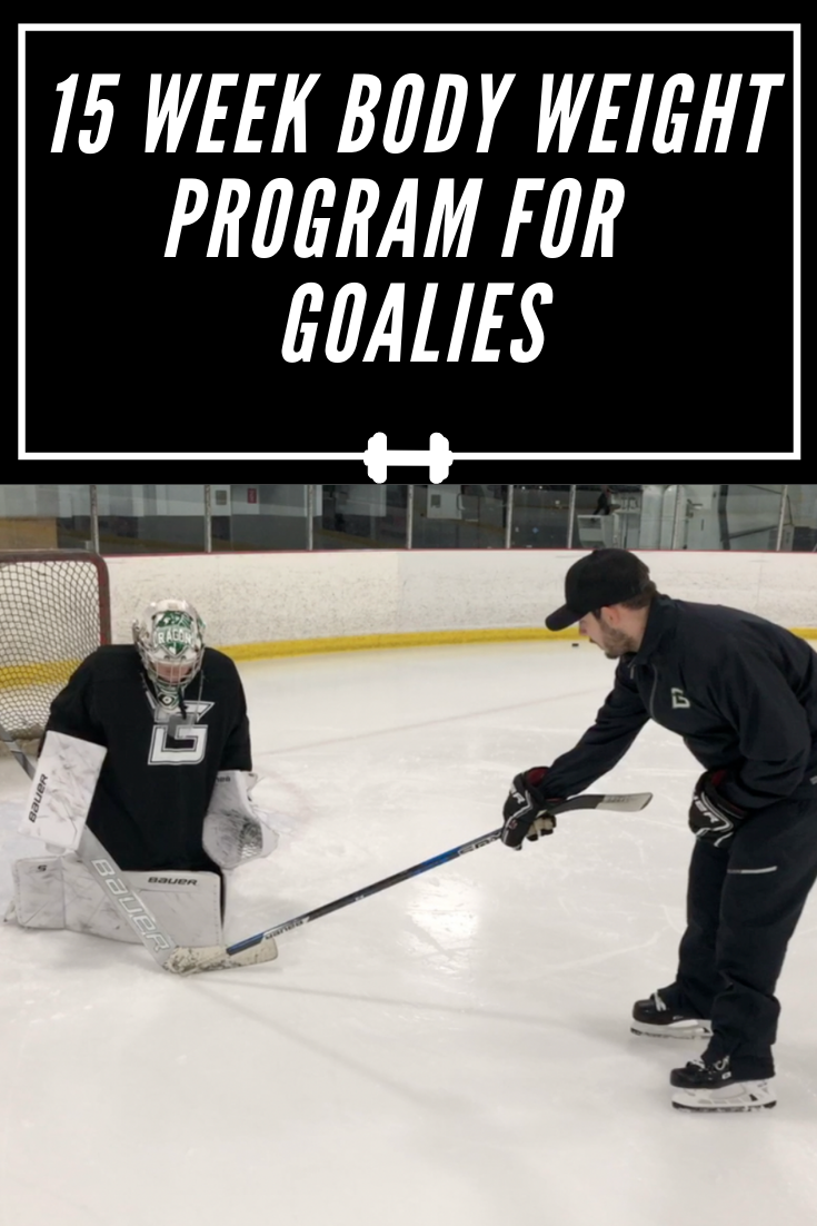 This Is A 15 Week Bodyweight Training Program Designed By Our Nhl Pro Training Partner Jayme Pantekoe Goalie Gym Training Program Bodyweight Training Program