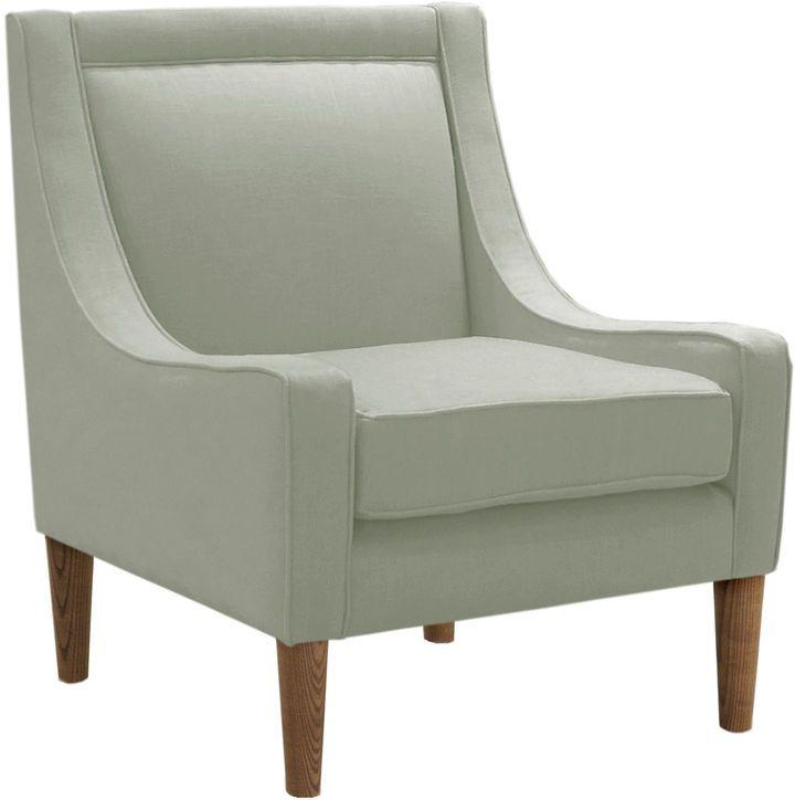 Skyline Furniture Scarlett Swoop Arm Chair Mint Linen Linen