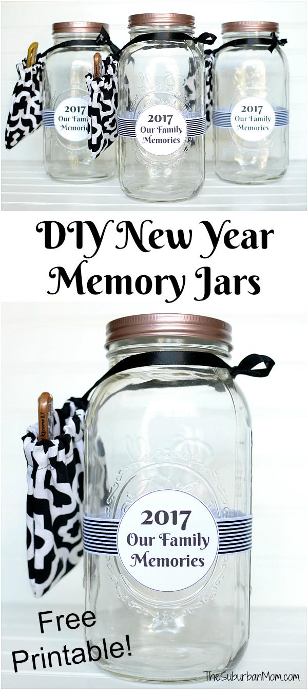 New Year Memory Jar Printable - The Suburban Mom | Free printable ...