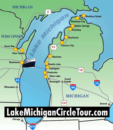 Circletour Region Map Lake Michigan Circle Tour Pinterest Lake - Lake michigan circle tour map