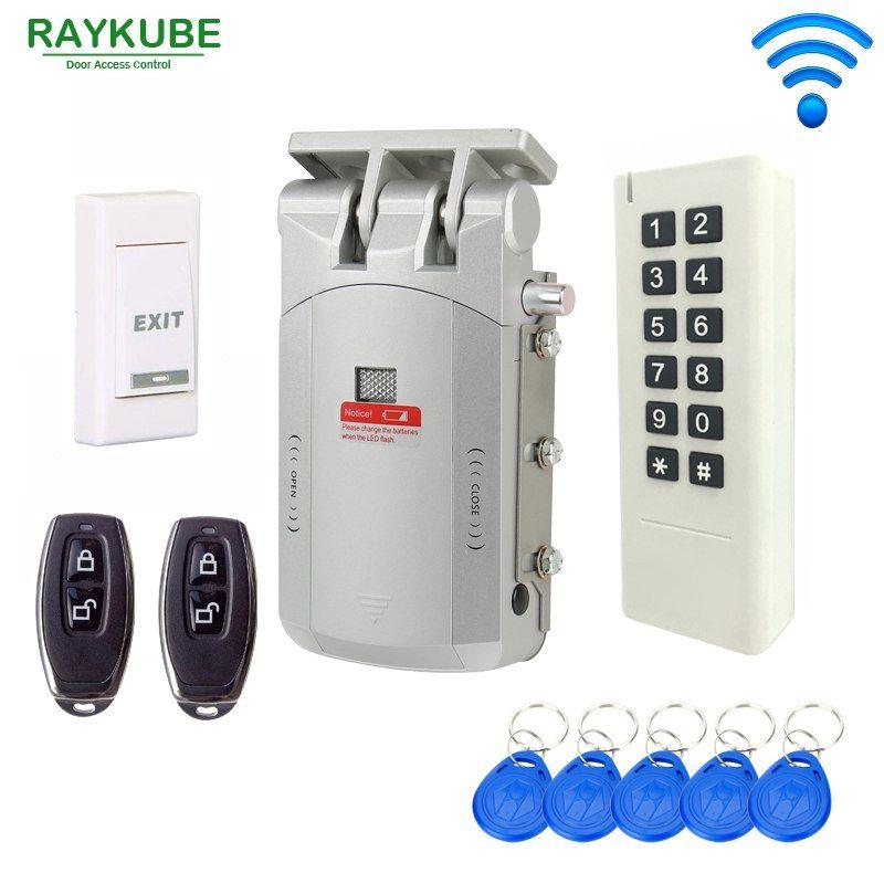 RAYKUBE Wireless Door Access Control System Electric Door