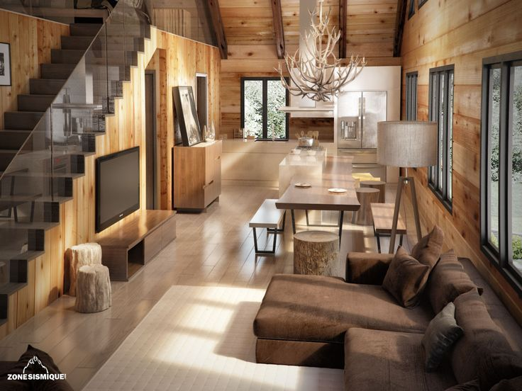 Best Decoration Interieur Chalet Moderne Contemporary - Ridgewayng ...