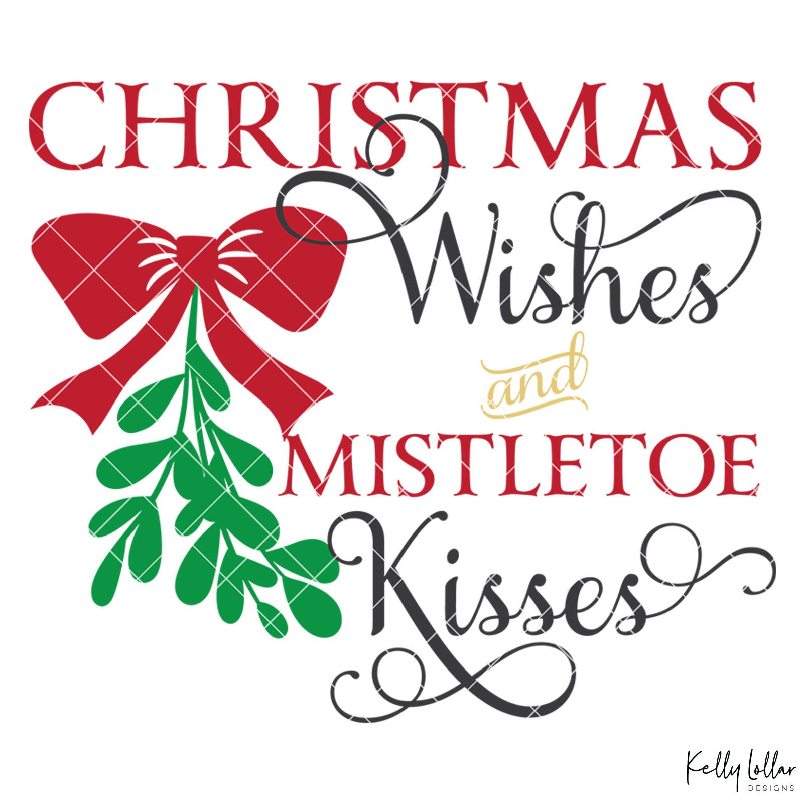 Christmas Wishes and Mistletoe Kisses - SoFontsy #mistletoesfootprintcraft