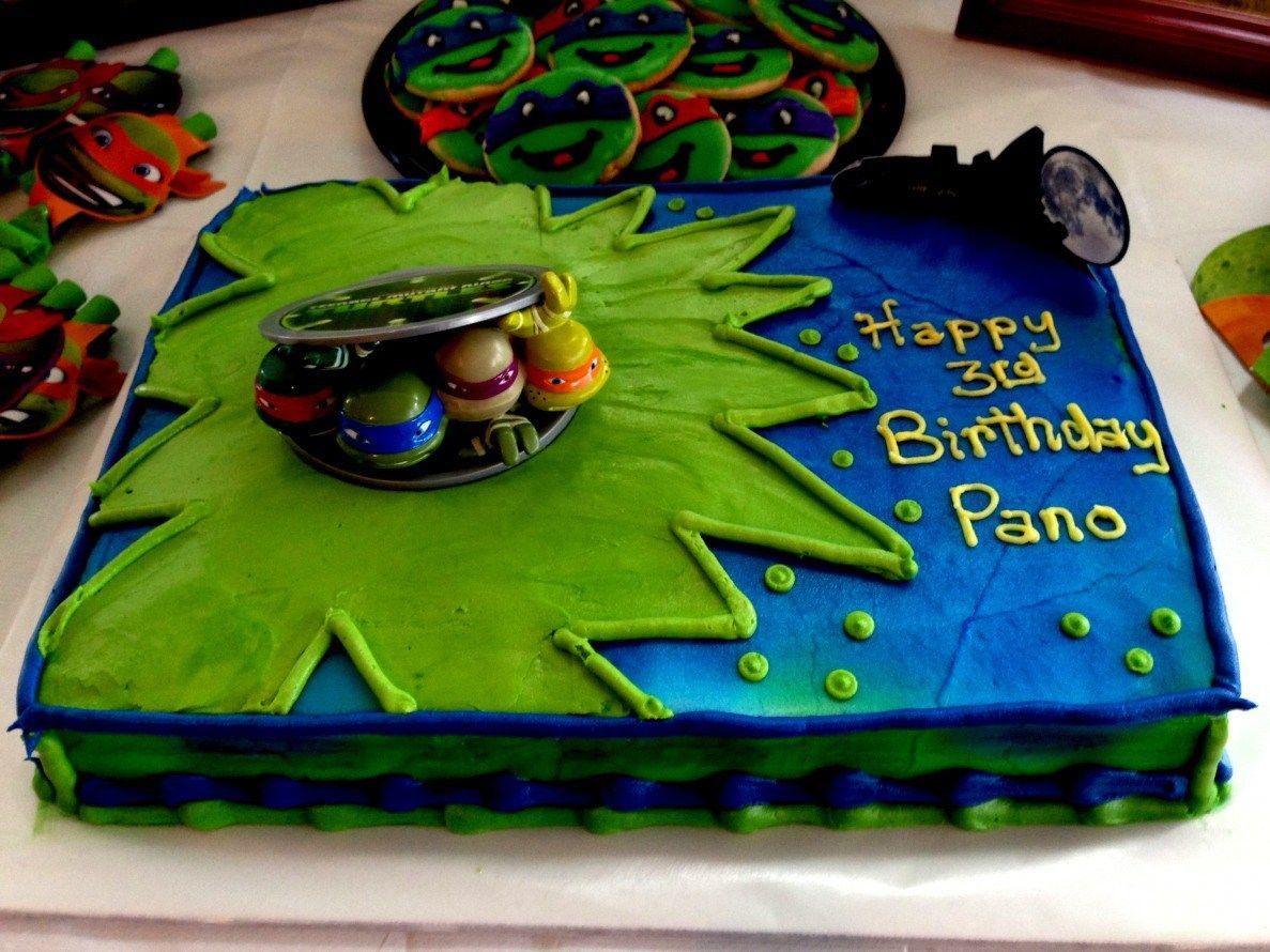 Superb 25 Amazing Image Of Tmnt Birthday Cakes Turtle Birthday Cake Personalised Birthday Cards Paralily Jamesorg