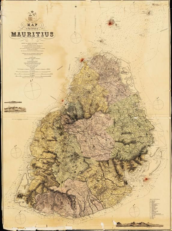 Historical Map Of Mauritius