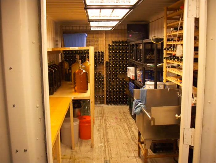 Shipping Container Makes An Amazing Underground Shelter/Wine Cellar Part 80
