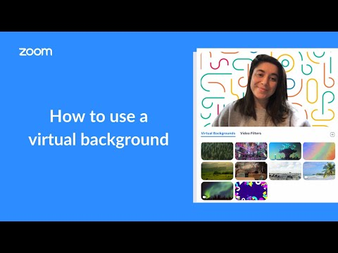 Overview The Virtual Background Feature Allows You To Display An Image Or Video As Your Background During A Zoom M Fun Things To Do Video Chat App Things To Do
