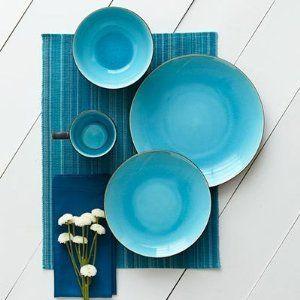 Over u0026 Back Oslo 16 Piece Dinnerware Set ... & Over u0026 Back Oslo 16 Piece Dinnerware Set Blue | Kitchen | Pinterest ...